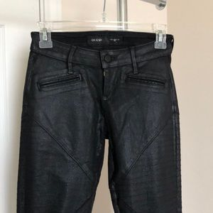 Black Guess Low rise Moto Jeans